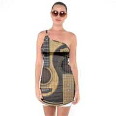 Old And Worn Acoustic Guitars Yin Yang One Soulder Bodycon Dress