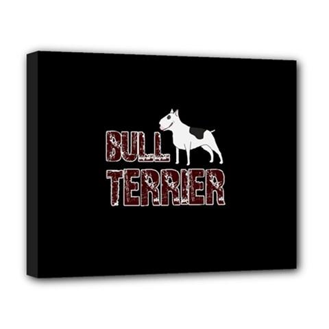 Bull Terrier  Deluxe Canvas 20  X 16