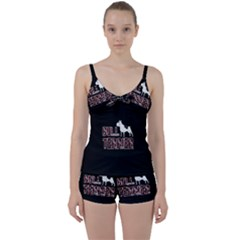 Bull Terrier  Tie Front Two Piece Tankini