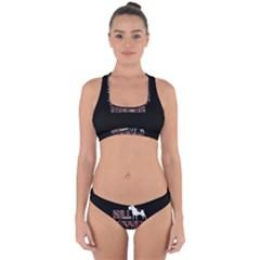 Bull Terrier  Cross Back Hipster Bikini Set