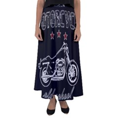 Motorcycle Old School Flared Maxi Skirt