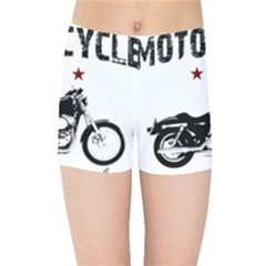 Motorcycle Old School Kids Sports Shorts