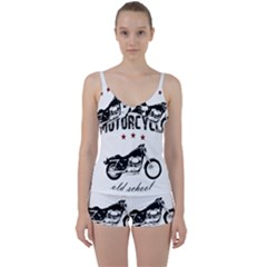 Motorcycle Old School Tie Front Two Piece Tankini