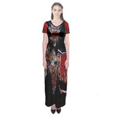 the Firebird    Short Sleeve Maxi Dress