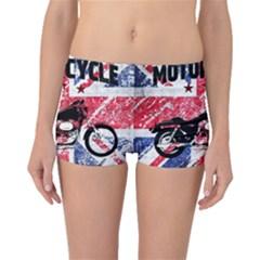Motorcycle Old School Boyleg Bikini Bottoms