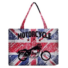 Motorcycle Old School Medium Zipper Tote Bag