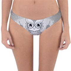 Wonderful Owl, Mandala Design Reversible Hipster Bikini Bottoms