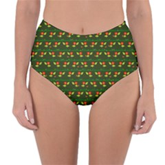 Plants And Flowers Reversible High Waist Bikini Bottoms