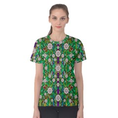 Pearl Flowers In The Glowing Forest Women s Cotton Tee