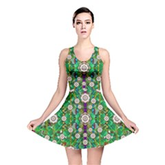 Pearl Flowers In The Glowing Forest Reversible Skater Dress