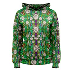Pearl Flowers In The Glowing Forest Women s Pullover Hoodie