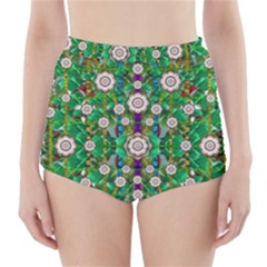 Pearl Flowers In The Glowing Forest High Waisted Bikini Bottoms