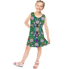 Pearl Flowers In The Glowing Forest Kids  Tunic Dress