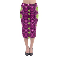 Lillie Of The Valley And Metal Midi Pencil Skirt