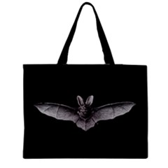 1904 Haeckel Chiroptera Black Medium Zipper Tote Bag