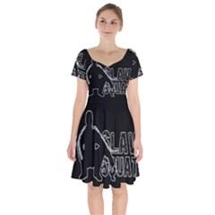 Slav Squat Short Sleeve Bardot Dress