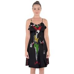 Joker  Ruffle Detail Chiffon Dress