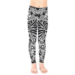 Tattoo Tribal Owl Kids  Legging