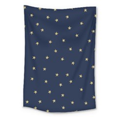 Navy/gold Stars Large Tapestry