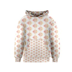 Geometric Losangle Pattern Rosy Kids  Pullover Hoodie