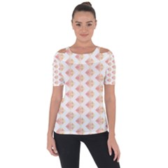 Geometric Losangle Pattern Rosy Short Sleeve Top
