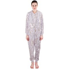 Off White Lace Pattern Hooded Jumpsuit (ladies)