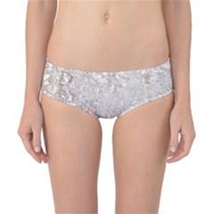 Off White Lace Pattern Classic Bikini Bottoms