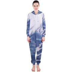 Blue Chinese Dragon Hooded Jumpsuit (ladies)