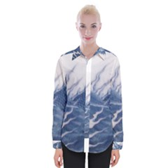 Blue Chinese Dragon Womens Long Sleeve Shirt