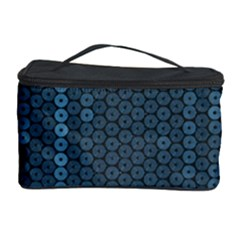 Blue Sparkly Sequin Texture Cosmetic Storage Case