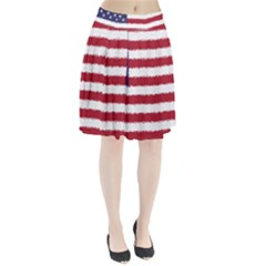 Flag Of The United States America Pleated Skirt