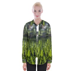 Green Grass Field Womens Long Sleeve Shirt