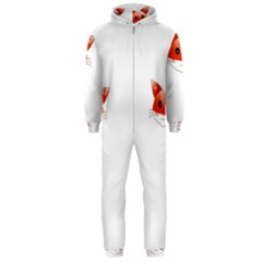 Animal Image Fox Hooded Jumpsuit (men)