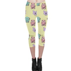 Animals Pastel Children Colorful Capri Leggings