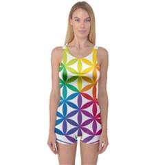 Heart Energy Medicine One Piece Boyleg Swimsuit