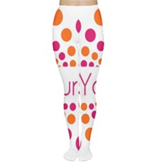 Be Yourself Pink Orange Dots Circular Women s Tights
