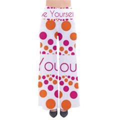 Be Yourself Pink Orange Dots Circular Pants