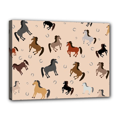 Horses For Courses Pattern Canvas 16  X 12
