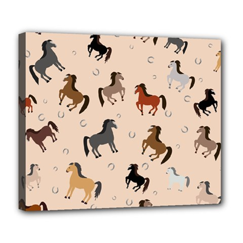Horses For Courses Pattern Deluxe Canvas 24  X 20