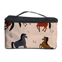 Horses For Courses Pattern Cosmetic Storage Case