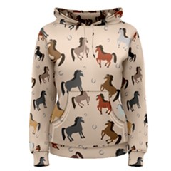 Horses For Courses Pattern Women s Pullover Hoodie