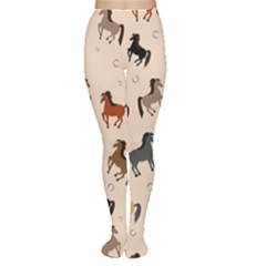 Horses For Courses Pattern Women s Tights