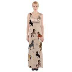 Horses For Courses Pattern Maxi Thigh Split Dress