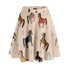 Horses For Courses Pattern High Waist Skirt