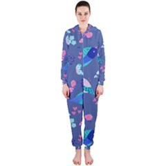 Birds And Butterflies Hooded Jumpsuit (ladies)