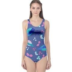 Birds And Butterflies One Piece Swimsuit