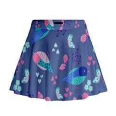 Birds And Butterflies Mini Flare Skirt