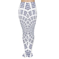 Illustration Binary Null One Figure Abstract Women s Tights