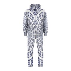 Illustration Binary Null One Figure Abstract Hooded Jumpsuit (kids)