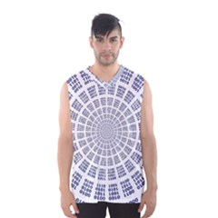 Illustration Binary Null One Figure Abstract Men s Basketball Tank Top